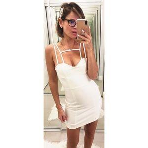 AQ/AQ Starlet Mini Dress in White